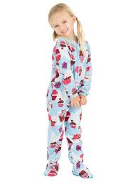 blue cupcakes toddler fleece footed pjs toddler pajamas one