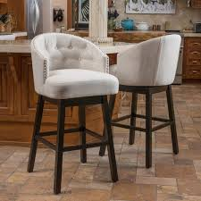 Bar Stool Sets Of 2 Ogden 35 Inch Fabric Swivel Backed Barstool Set Of 2 By