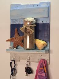 beach theme shelf with hooks nautical rustic shelf beach theme