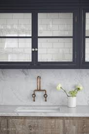 Kitchen Marble Backsplash Summer Living A Cottagey London Kitchen Marble Backsplash Glass