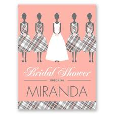bridesmaids invitation bridesmaids in plaid bridal shower invitation invitations