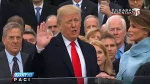 donald trump presiden amerika donald trump resmi menjabat presiden amerika serikat tribunnews com