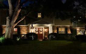modest landscape lighting for a classic home amp lighting