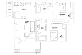 2 bed 2 bath floor plans floor plans vista co housing irvine ca