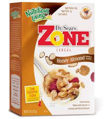 dr sears zone honey almond breakfast cereal