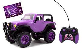 wrangler jeep pink jada toys girlmazing big foot jeep wrangler purple 49 mhz ebay