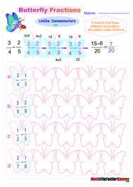fraction adding u0026 subtracting fractions poster cards u0026 worksheets