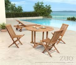 zuo modern regatta outdoor dining set with round table u0026 folding