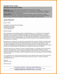 Canadian Cover Letter Format by 8 Cover Letter Examples Canada Assembly Resume