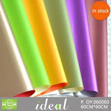 high wrapping paper 60 60cm sheet high gloss plastic sided wrapping paper buy
