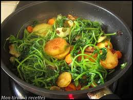 mon tiroir à recettes de cuisine soupe de fanes de radis