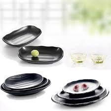 assiette de cuisine vaisselle en mélamine assiette gel ovale plat japonais cuisine