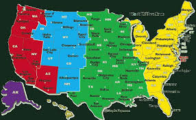 zone map for usa usa map zones states topographic map