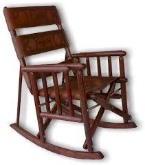 Folding Rocking Chair Leather Chairs