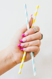 diy this cute heart manicure for fun pink nail art bespoke