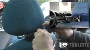 support tablette voiture entre 2 sieges support voiture pour et tablettes tactiles l appui tête izen