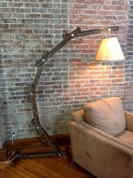 Apothecary Table Lamp by Rustic Wooden Cantilever Floor Lamp By A Walk Through The Woods