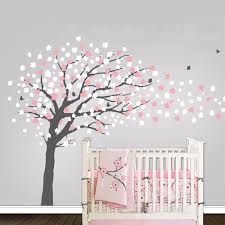 Cherry Blossom Tree Wall Decal For Nursery Aliexpress Buy Modern Butterfly Flower Tree Wall