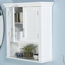 white bathroom wall storage cabinet louvered towel cabinet in