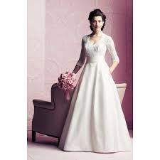 lace 3 4 sleeve wedding dress winter graceful 3 4 sleeves lace brocade wedding dress