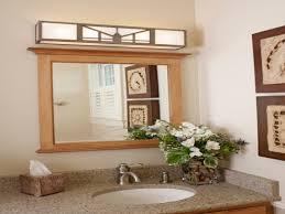 bathroom lighting over mirror craftsman style bathroom vanity