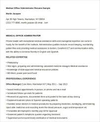 Resume Examples For Medical Office by Best Administrative Resume 17 Free Word Pdf Documents Download