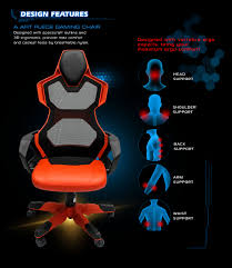 Desk Chair For Gaming by E Blue Cobra R Gaming Chair High Grade Pu Leather Pc Racing Bucket