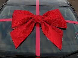 large gift bow car bow big large gift bow handmade with superfast