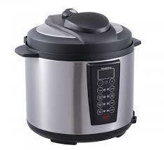 Matte Appliances Black 1000 Watt 6 Quart Electric Pressure Cooker Brushed Stainless