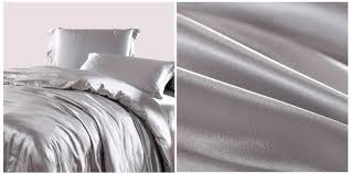 White Silk Bedding Sets Silver Bedding Sets Grey Silk Satin California King Size