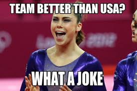 Meme Joke - team better then usa what a joke gymnastics meme gymnastics memes