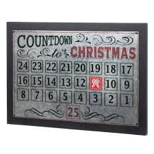 martha stewart living 22 in l metal christmas countdown calendar