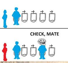 Urinal Checkmate Meme - stallmate art of trolling troll trolling yahoo answers