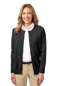 womens black cardigan sweater port authority neck cardigan sweater womens button