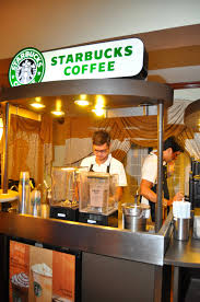 i want a little starbucks cart in the cocktail party for those who