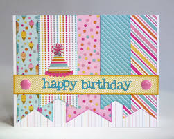 this is the birthday card snippets by mendi some more doodlebug sugar shoppe birthday cards