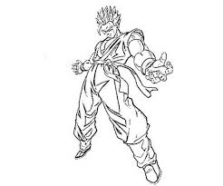 printable dragon ball gohan teen ssj action coloring pages 567740
