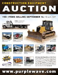 sold september 14 construction equipment auction purplewa