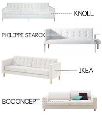 White Leather Sofa Modern Ours Is Ikea Once We Get More Space Again Would Like Another