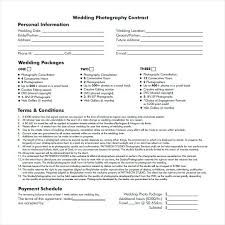 wedding photography contract template word download free documents