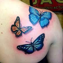 butterfly on shoulder blade