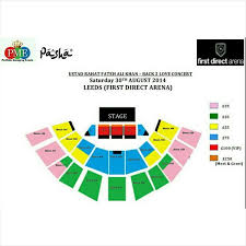 leeds arena floor plan seating plan for rahat fateh ali khan concert in leeds first