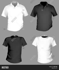 vector men u0027s black and white t shirt and polo shirt template