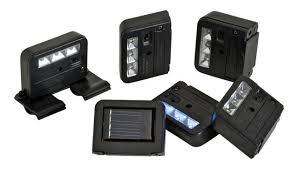 wunder light solar light homebrite 3 solar powered wunder light set of 6 for deck