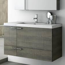 modern 39 inch bathroom vanity set with medicine cabinet grey