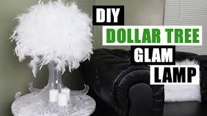 diy dollar tree glam lamp dollar store diy glam feather lamp diy