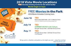 City Of San Diego Zoning Map by 2018 Movies In The Park City Of Vista Ca