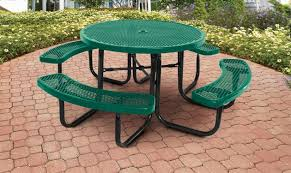 Commercial Picnic Tables by Supersaver Commercial Round Picnic Table Treetop Products