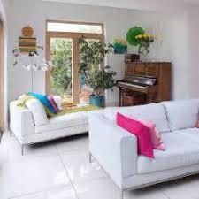 White Sofa Living Room With Black White Floor White Sofa In - Living room with white sofa