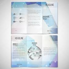 sided tri fold brochure template vector set of tri fold brochure design template on both sides with